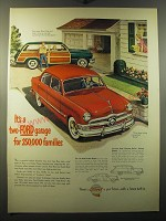 1950 Ford Fordor Sedan and Country Squire Station Wagon Advertisement