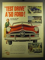 1950 Ford Cars Ad - Test drive a '50 Ford