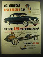 1950 Ford Cars Ad - It's America's best dressed car