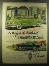 1950 Ford Cars Ad - A beauty on the boulevard a bearcat in the brush