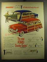 1950 Ford Country Squire Station Wagon Advertisement