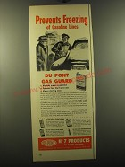 1950 Du Pont Gas Guard Ad - Prevents freezing of gasoline lines
