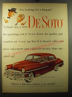 1950 De Soto Cars Ad - I'm looking for a bargain