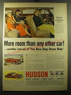 1950 Hudson Custom Commodore Four-Door Sedan Ad - More room than any other car!