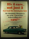1950 Studebaker Champion Ad - It's 4 cars.. Not just 3