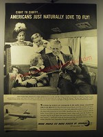 1950 Douglas Aircraft Ad - Eight to Eighty.. Americans just naturally love