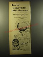 1950 Roma Wine Ad - Here's why no other wine has Roma's delicious taste
