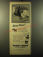 1950 Black & White Scotch Ad - Going home!