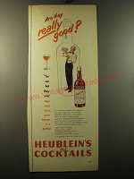 1950 Heublein's Manhattan Club Cocktails Ad - Are they really good?