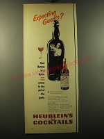 1950 Heublein's Manhattan Club Cocktails Ad - Expecting Guests?