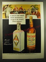1950 Gilbey's Spey-Royal Scotch Whiskey and Distilled London Dry Gin Ad