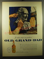1950 Old Grand-Dad Bourbon Ad - art by John Vickery
