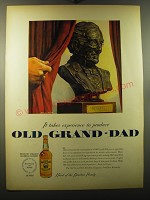 1950 Old Grand-Dad Bourbon Ad - art by Melbourne Brindle