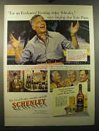 1950 Schenley Whiskey Ad - For an Enchanted Evening, says Ezio Pinza
