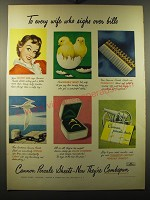 1949 Cannon Percale Sheets Ad - To every wife who sighs over bills
