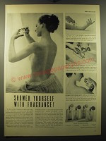 1949 Coty Toilet Water Ad - Shower yourself with fragrance