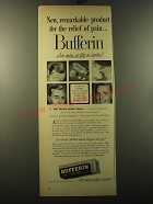 1949 Bufferin Medicine Ad - New, remarkable product for the relief of pain