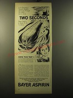 1949 Bayer Aspirin Ad - In 5.1 seconds a torpedo streaks 100 yards
