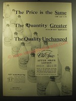 1949 Old Spice After Shave Lotion Ad - The price is the same the quantity