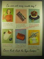 1949 Cannon Percale Sheets Ad - Can wives work money-miracles today?
