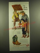 1948 Acme Cowboy Boots Ad - Acme Cowboy boots for all the family