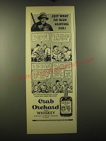 1938 Crab Orchard Whiskey Ad - Just what I've been hunting for
