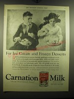 1921 Carnation Milk Ad - For Ice Cream and Frozen Desserts