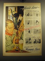 1949 Hamm's Beer Ad - Here's how - to become a smooth skier