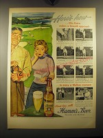 1949 Hamm's Beer Ad - Here's how - Olin Dutra makes a smooth approach