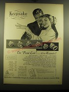 1948 Keepsake Rings Advertisement - Fidelis, Heather, Hollister, Castle, Lourdes