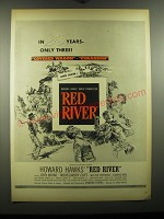 1948 Red River Movie Ad - In 25 years - only three!