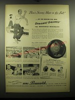 1948 Brunswick Mineralite Bowling Ball Ad - There's scoring magic in this ball