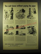 1948 Union Oil Company Ad - You can't dance without paying the piper