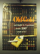 1948 Old Gold Cigarettes Ad - Old Gold was taught by experience