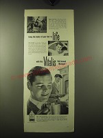 1947 Vitalis Hair Tonic Ad - Bring the looks of your hair to life