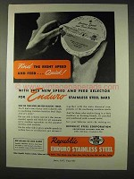 1947 Republic Enduro Stainless Steel Ad - Right Speed