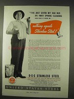1947 United States Stainless Steel Ad - Nothing Equals