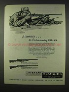 1947 Stevens 416-2 Target Rifle Ad - Accuracy