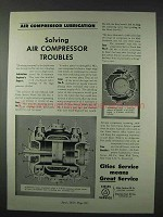 1947 Cities Service Oil Ad - Air Compressor Lubrication