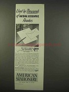 1947 American Stationery Ad - Used by Thousands