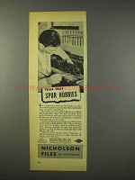 1947 Nicholson Files Ad - Spur Hobbies