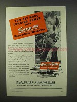 1947 Snap-On Heavy-Duty Wrenches Ad - Turning Power