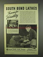 1947 South Bend Lathe Ad - Famous for Versatility