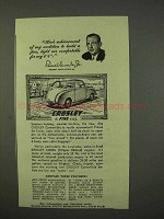 1947 Crosley Convertible Car Ad - Comfortable