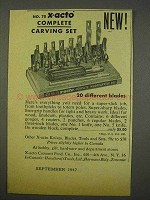 1947 X-acto No. 78 Complete Woodcarving Set Ad