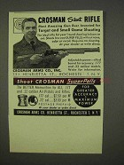 1947 Crosman Silent Rifle Ad - Target and Small Game