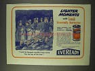 1943 Eveready Batteries Ad - Keep Saying Hip, Hip, Hip