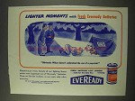 1943 Eveready Batteries Ad - The Use of a Pup-Tent