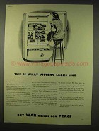1942 WWII War Bonds Ad - What Victory Looks Like