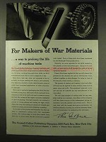 1942 WWII Crowell-Collier Publishing Ad - War Materials
